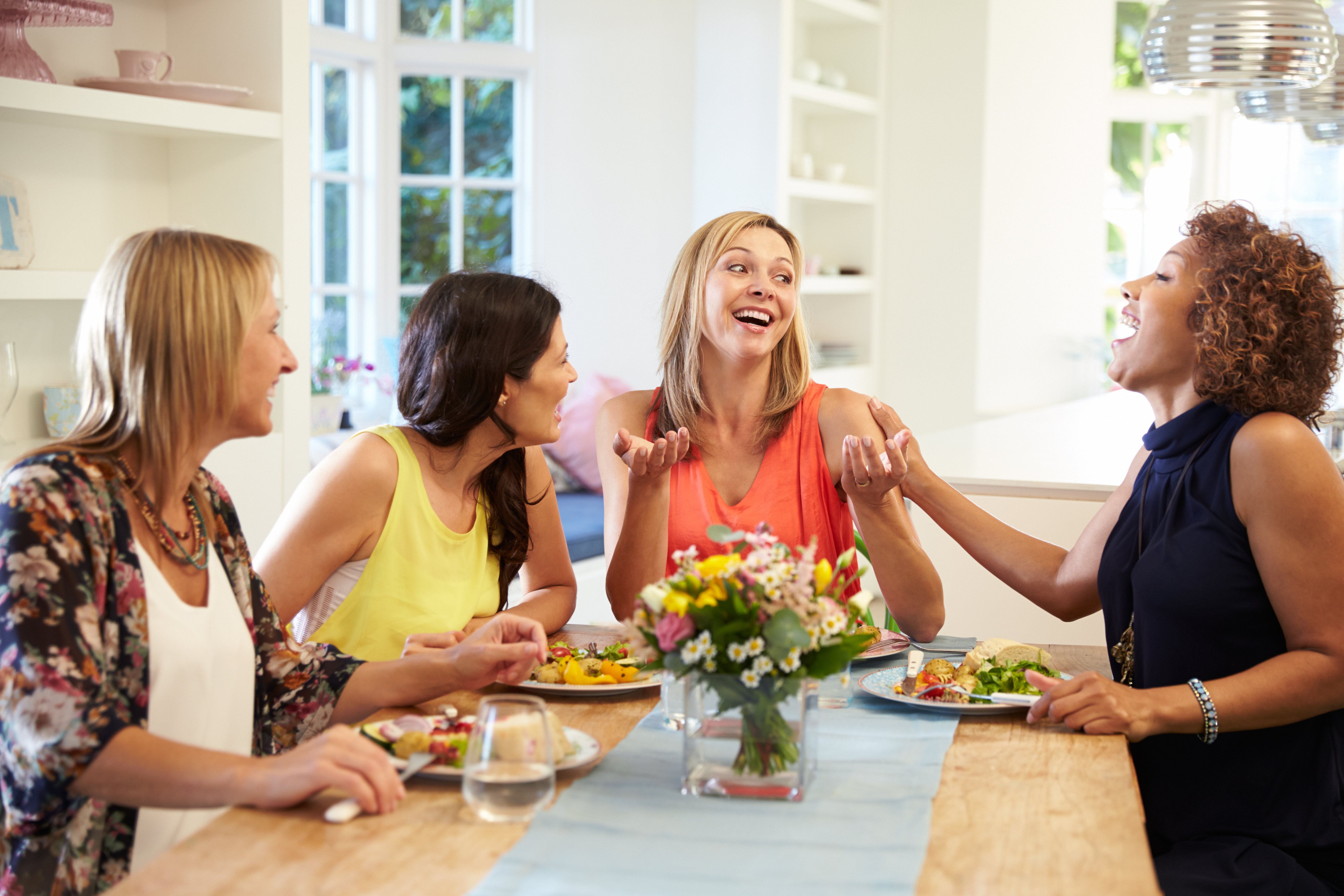 Abounding Solutions Mature Female Friends Sitting Around